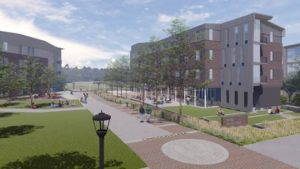 New housing along tech drive
