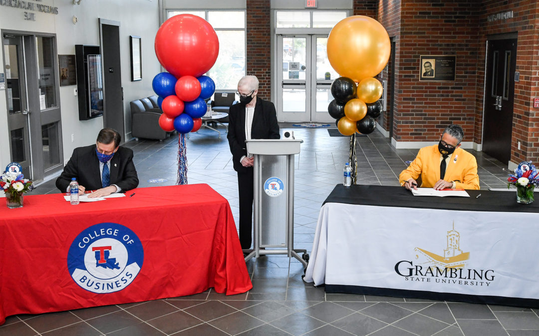 Louisiana Tech, Grambling sign concurrent Master of Accountancy memorandum of understanding