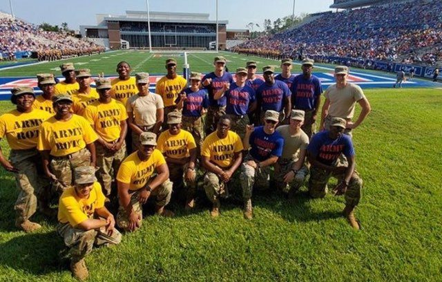 Cadets gather at GSU-Louisiana Tech football game in 2019