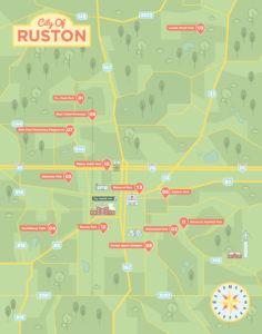 Ruston park map