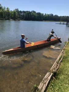 concrete canoe floats