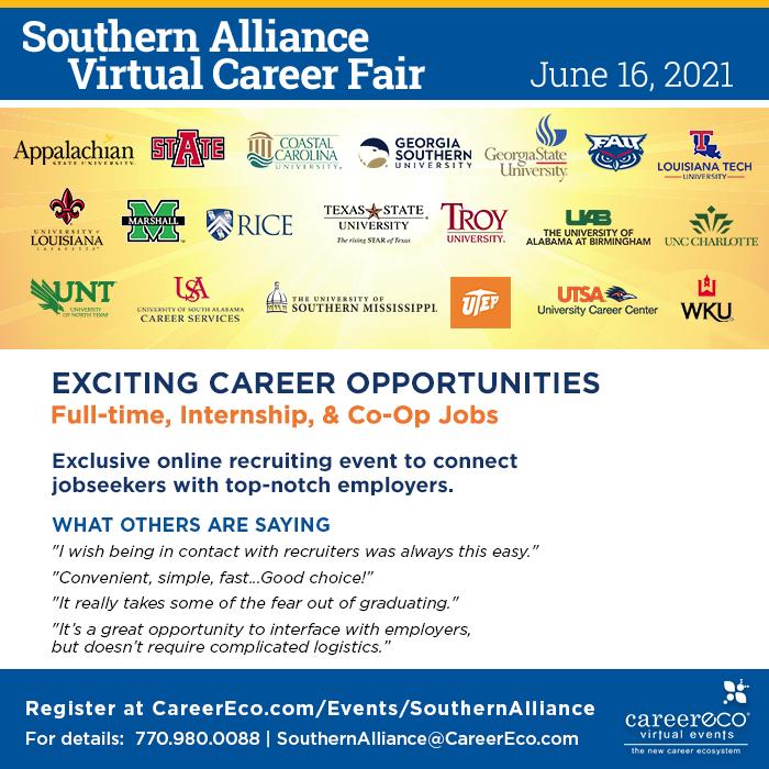 Southern Alliance Virtual Career Fair