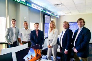 Student analysts in the trading room
