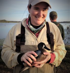 Dr. Terri Maness and a duck