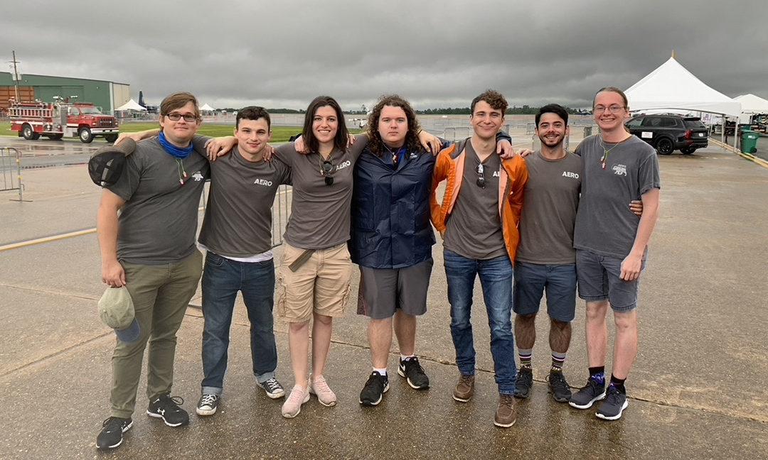 Aerospace Club volunteers as part of international air show