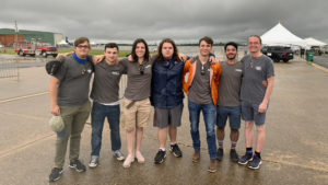 Aerospace students volunteer at the air show.