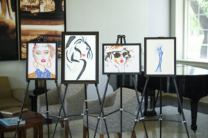 Fashion illustrations created by students in Louisiana Tech University's Fashion Merchandising and Retail Studies Program.