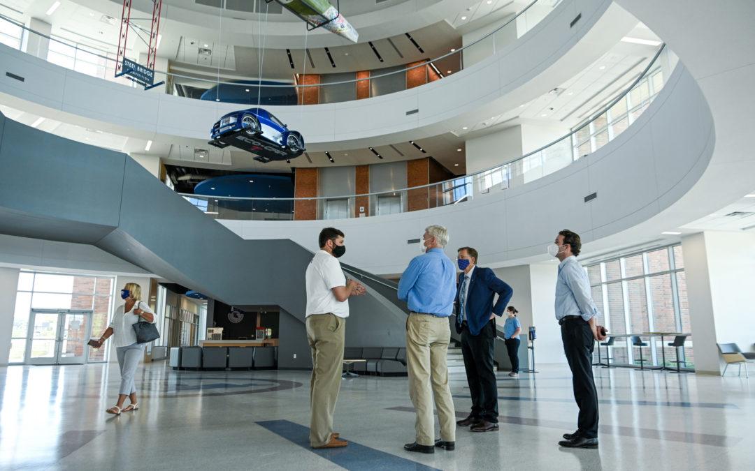 Senator tours IESB, attends groundbreaking as more Enterprise Campus improvements begin