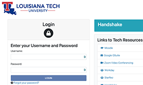 Tech's CAS login page.