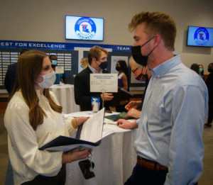 Students network with prospective employers during Career and Student Success week.